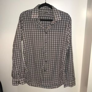 Express Fitted size M 15-15 1/2, EUC Gray/purple